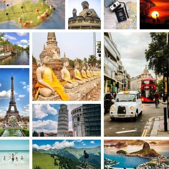 Vision Dream Board Travel