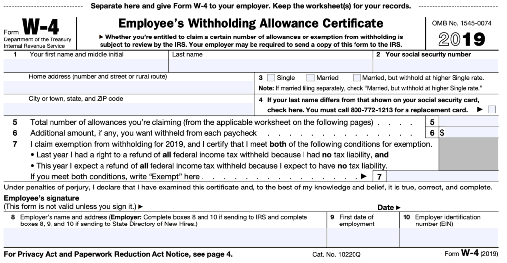 w2 form 1 or 0  Should I Claim 110 or 10 Allowances On My W-10 To Lower My Taxes?