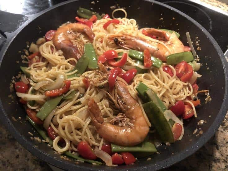 Cheap shrimp pasta under $5