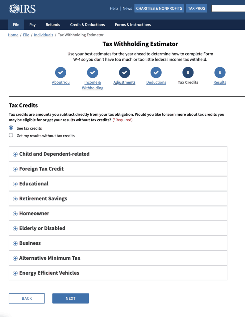 Newly redesigned w-4 form