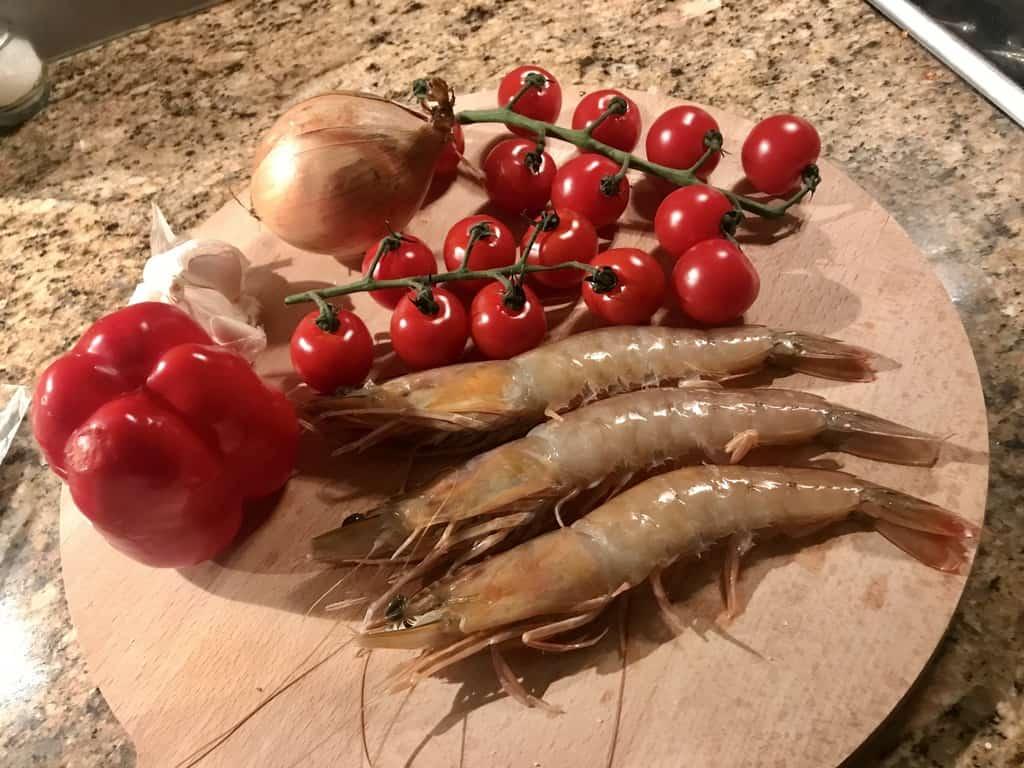 shrimp pasta ingredients