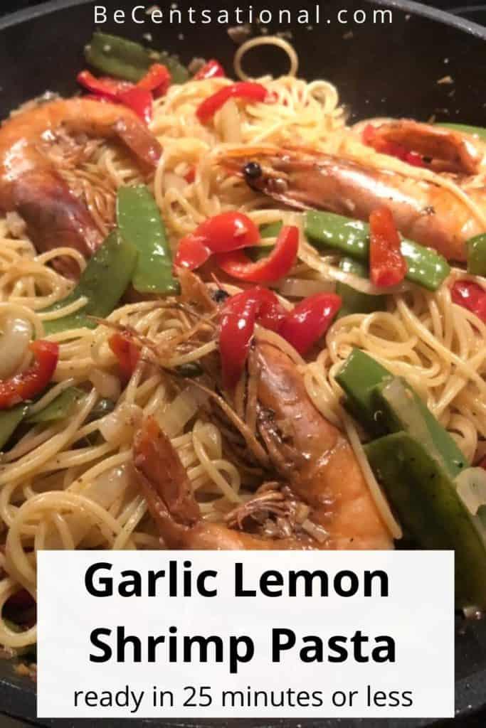 shrimp garlic lemon pasta