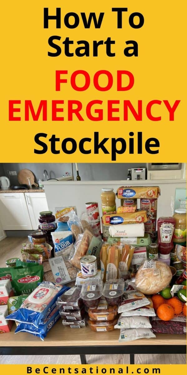 Groceries for stockpile food supply
