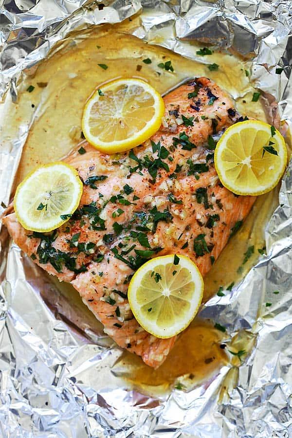 Garlic Lemon Butter Salmon from