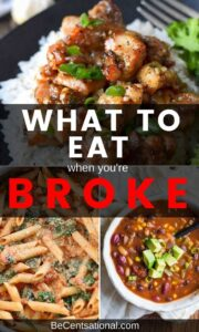 Cheap food to buy when broke