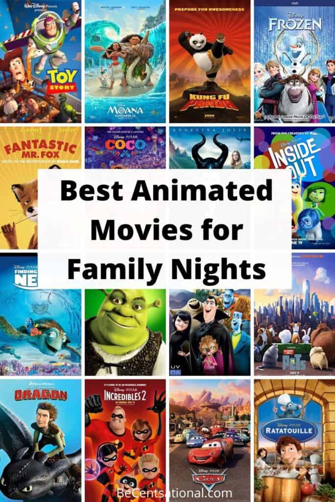 best animated movies for family nights