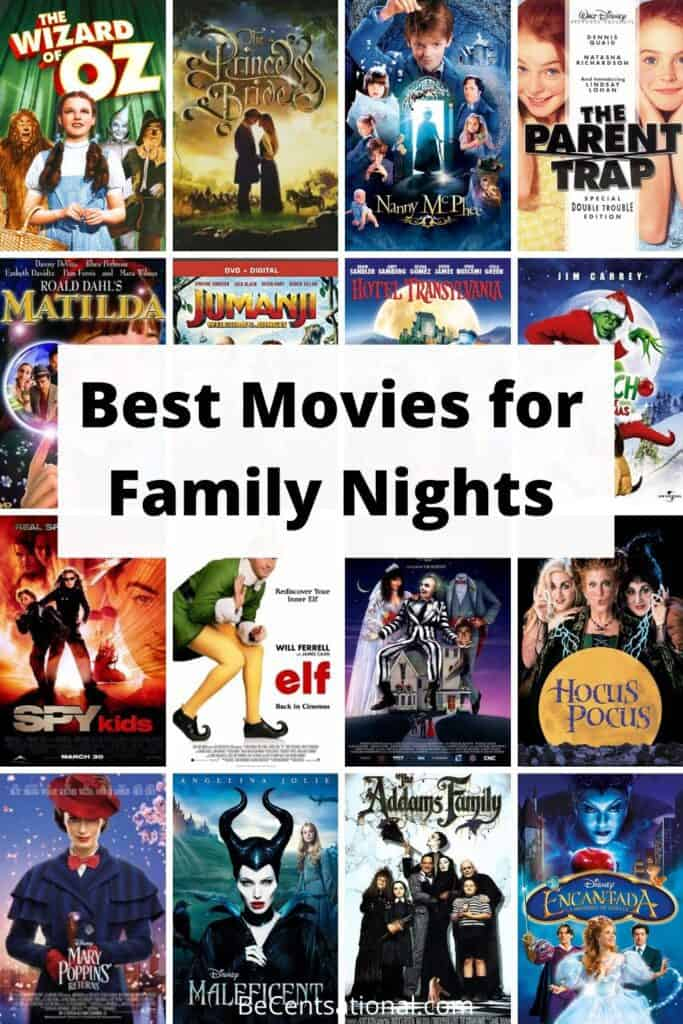best movies for family nights