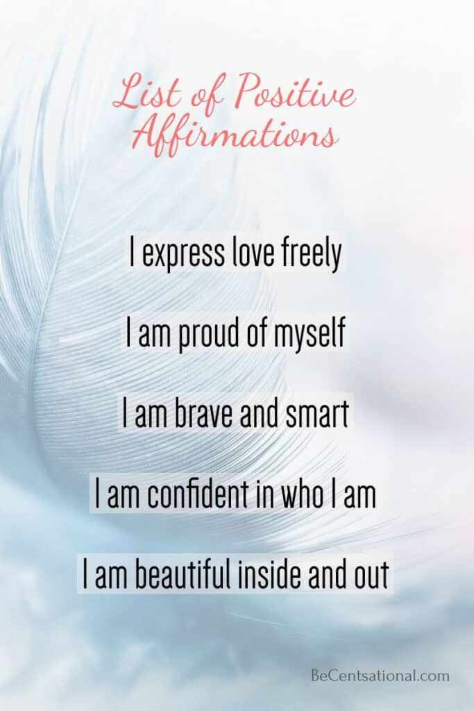 i am positive affirmation list