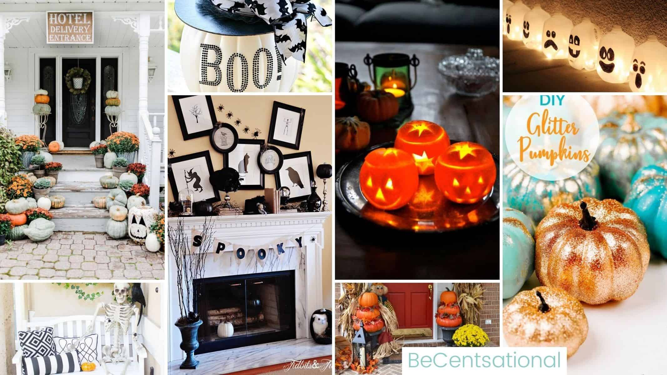 Decorating for Halloween on a Dime. Compilation of Budget Halloween Decoration Ideas