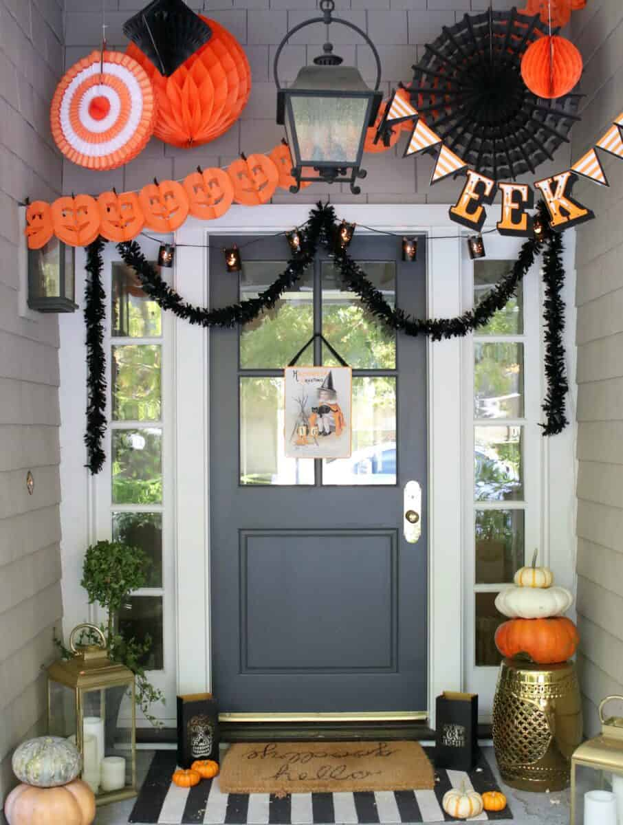Farmhouse Halloween Porch
