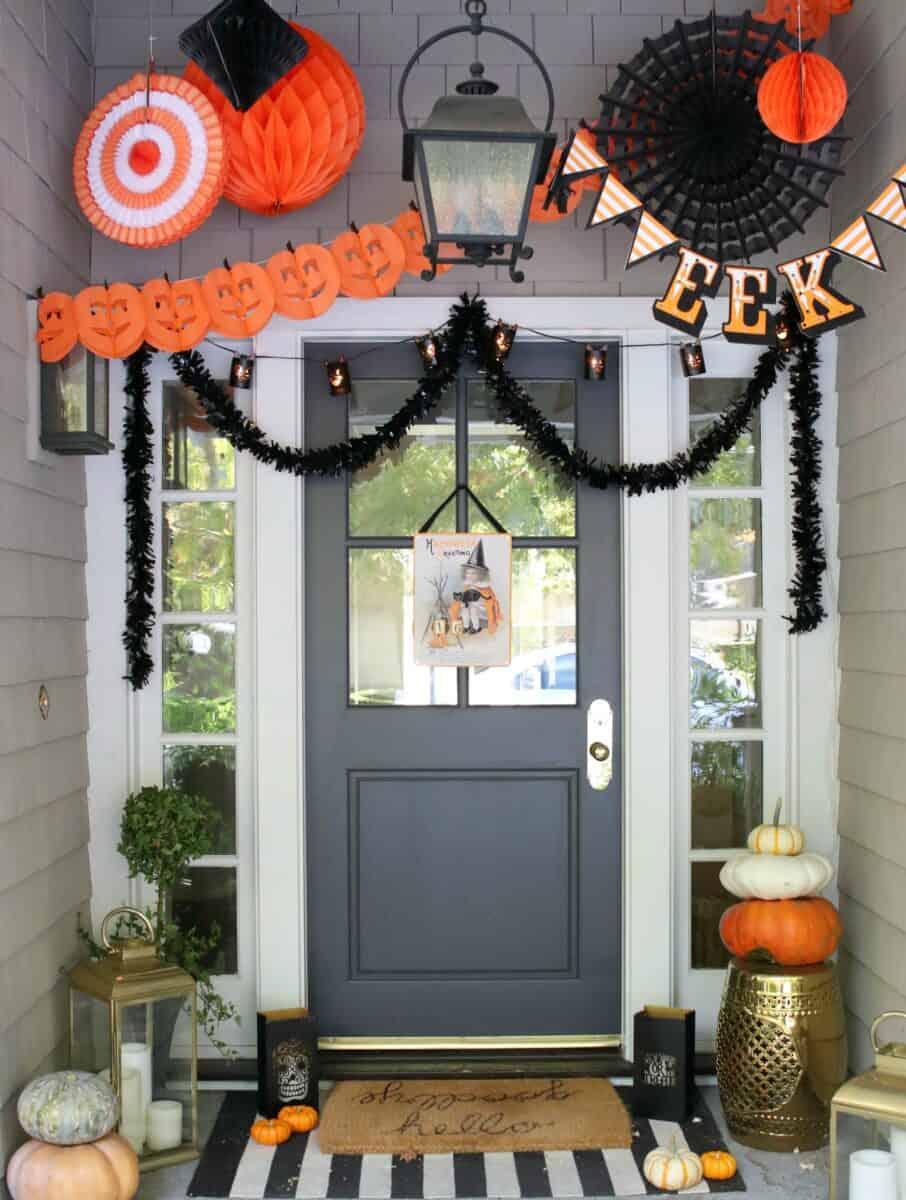 Farmhouse Halloween Porch