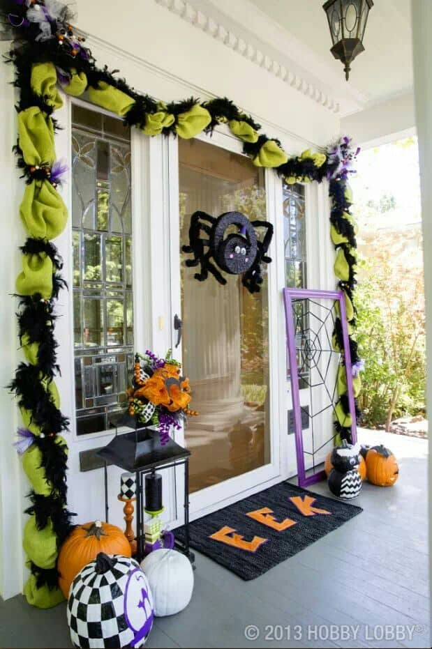 Itsy Bitsy Spider Halloween Porch ideas