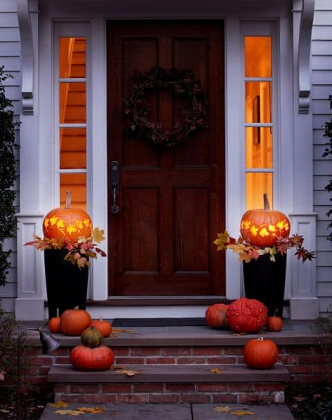 Lantern fall harvest halloween porch