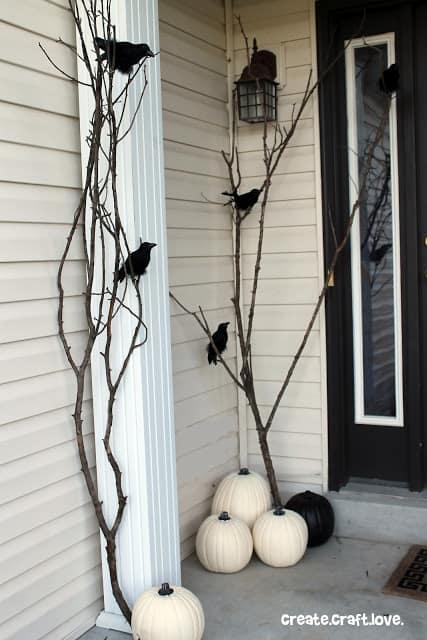 Raven Halloween Porch decoration ideas