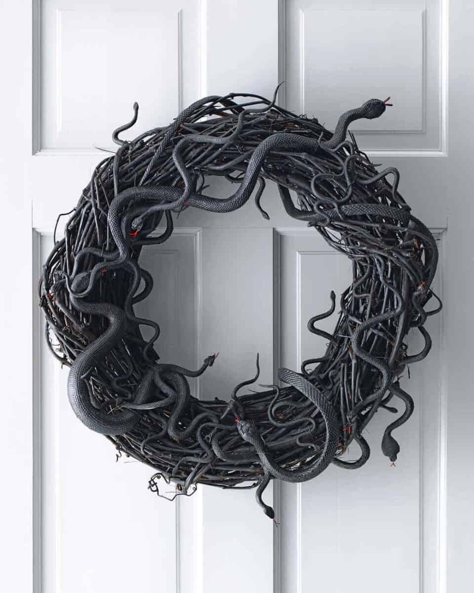 Wriggling Snake Wreath DIY