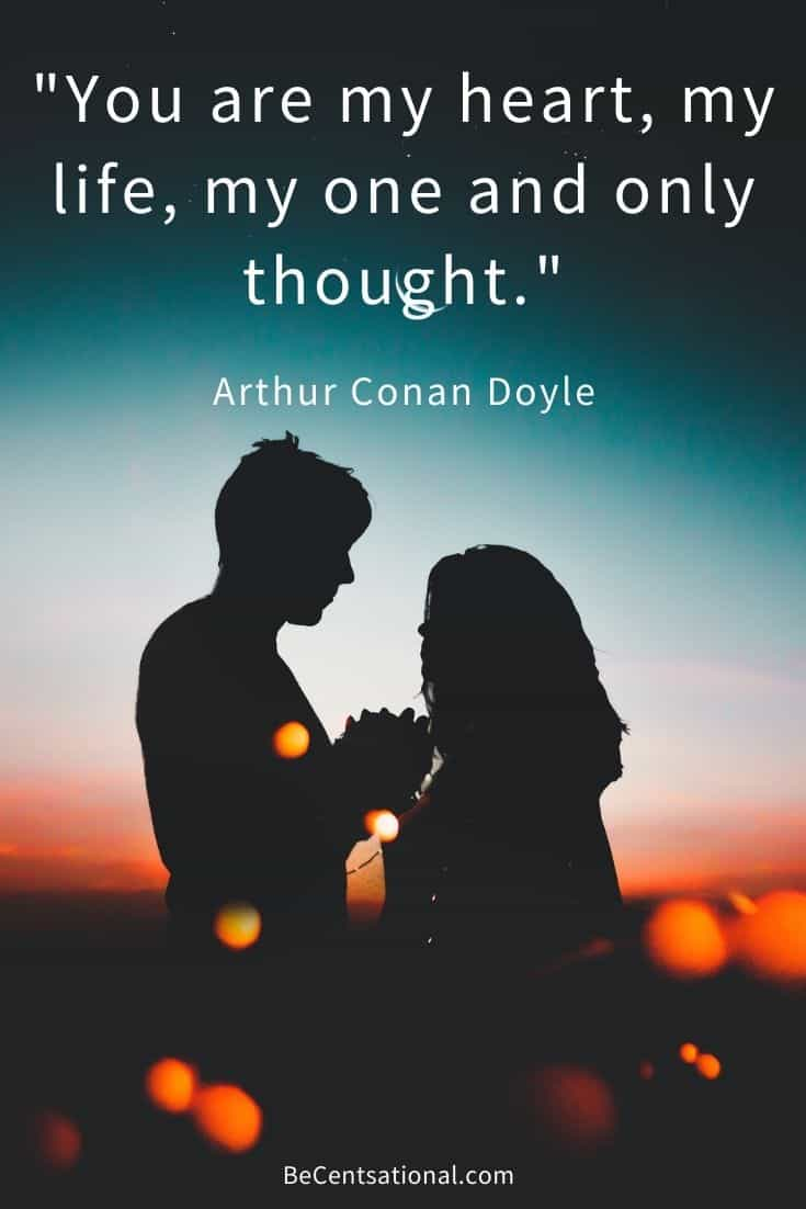 short deep love quotes   you are my heart, my life, my one and only thought.