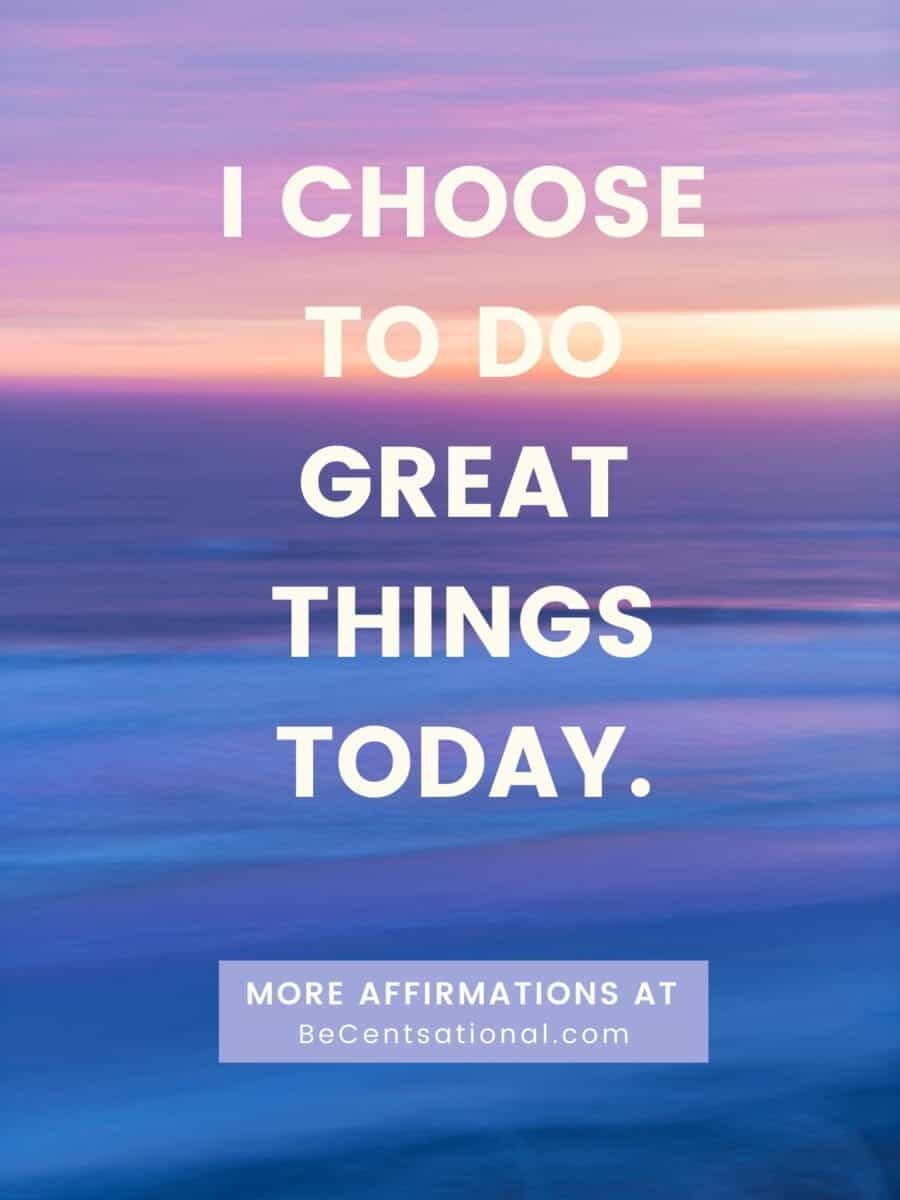 Positive morning affirmations. Today, I put my energy into things that matter to me. Affirmations to start your day.
