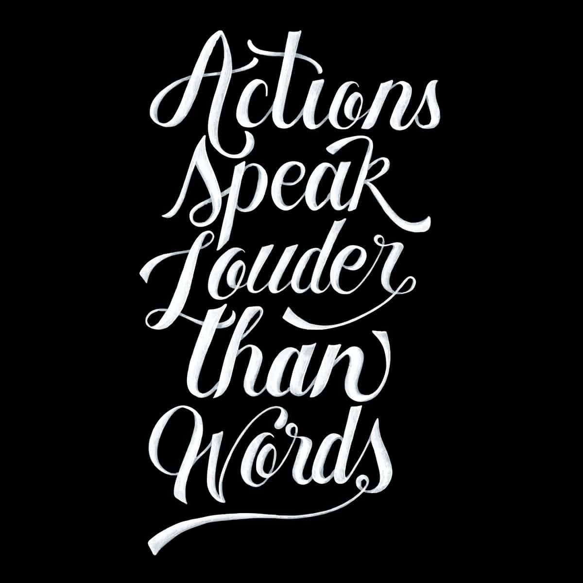 action speak louder than words quotes - post feature image
