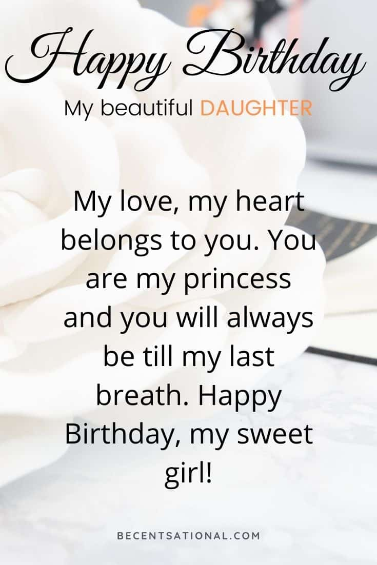 bday wishes for daugther