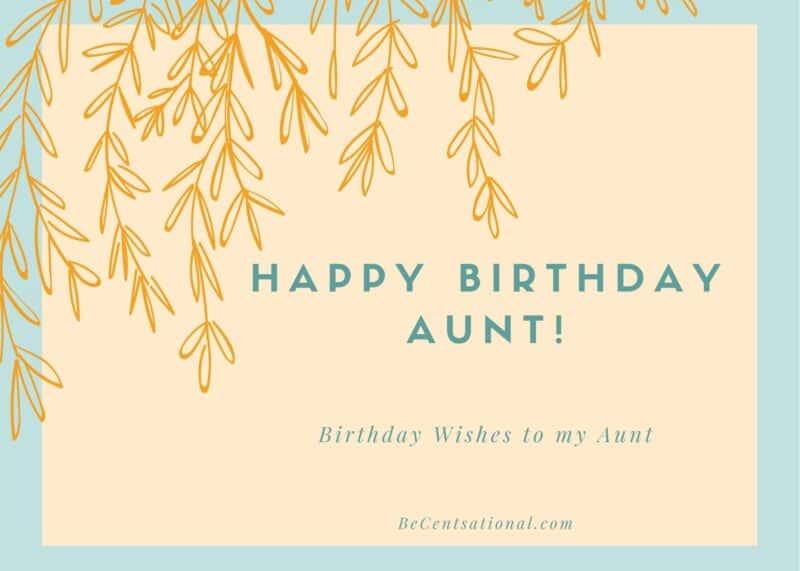 happy birthday aunt