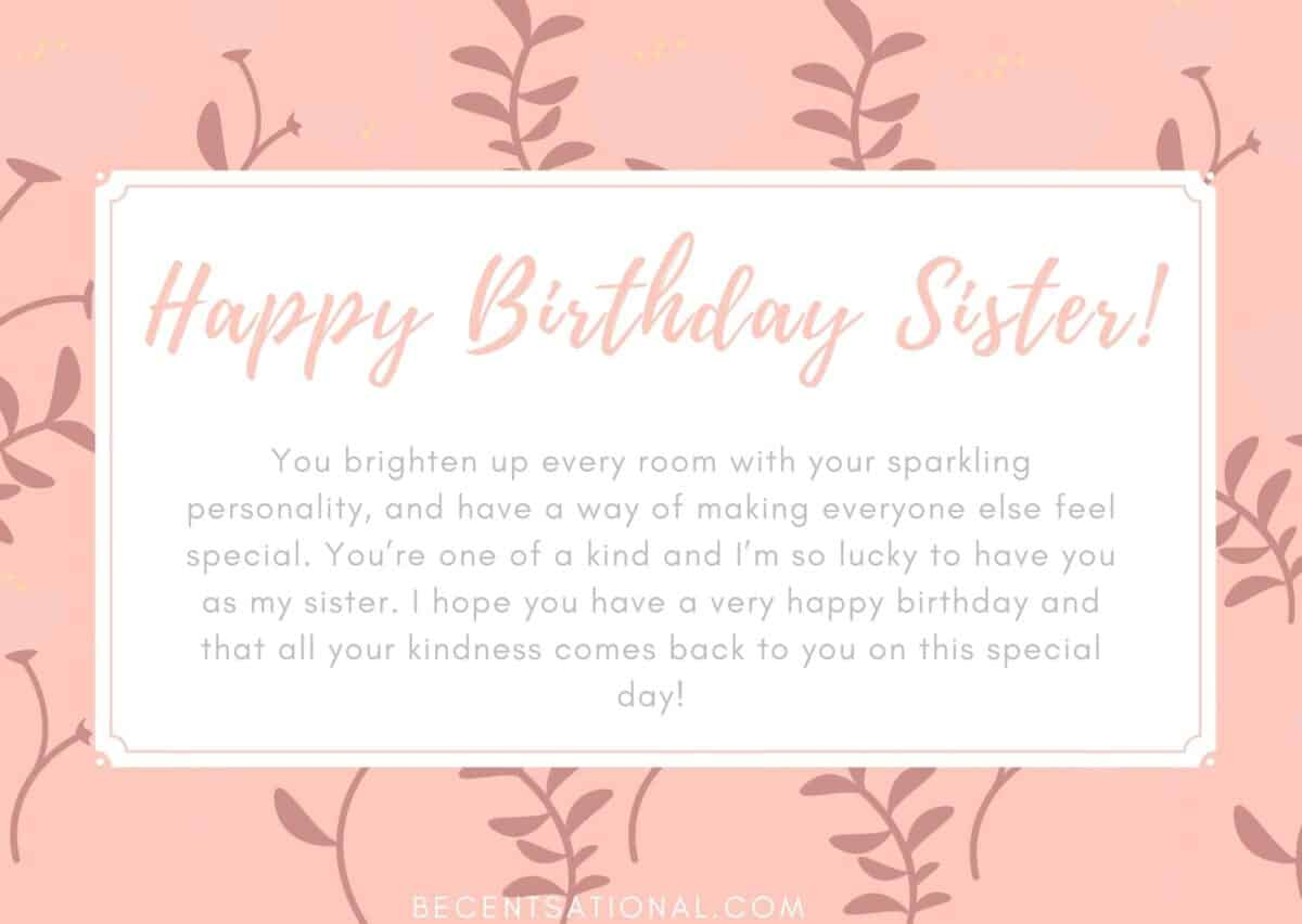 happy birthday wished sister
