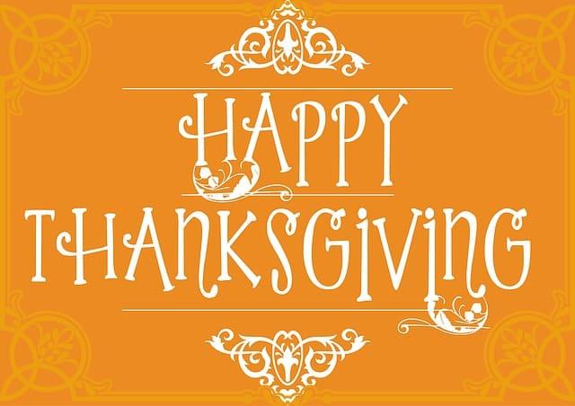 happy thanksgiving wish