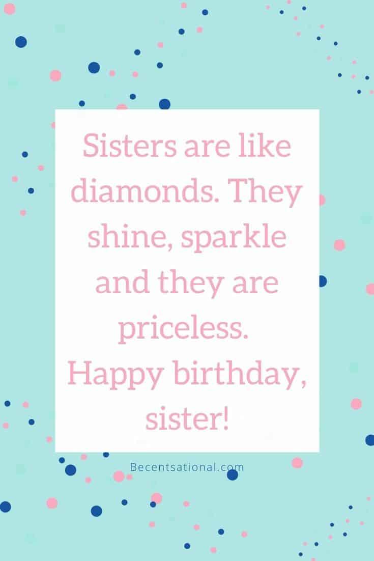 Happy Birthday, Sister! | sister birthday quotes, Happy Birthday Sister