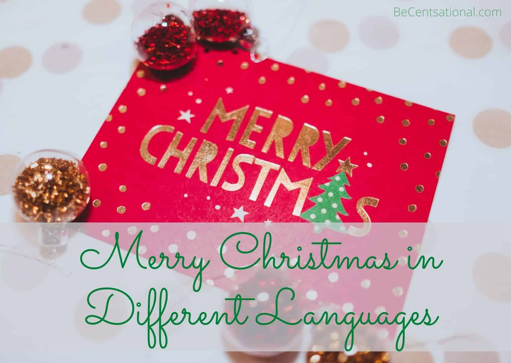Merry Christmas in Different Languages