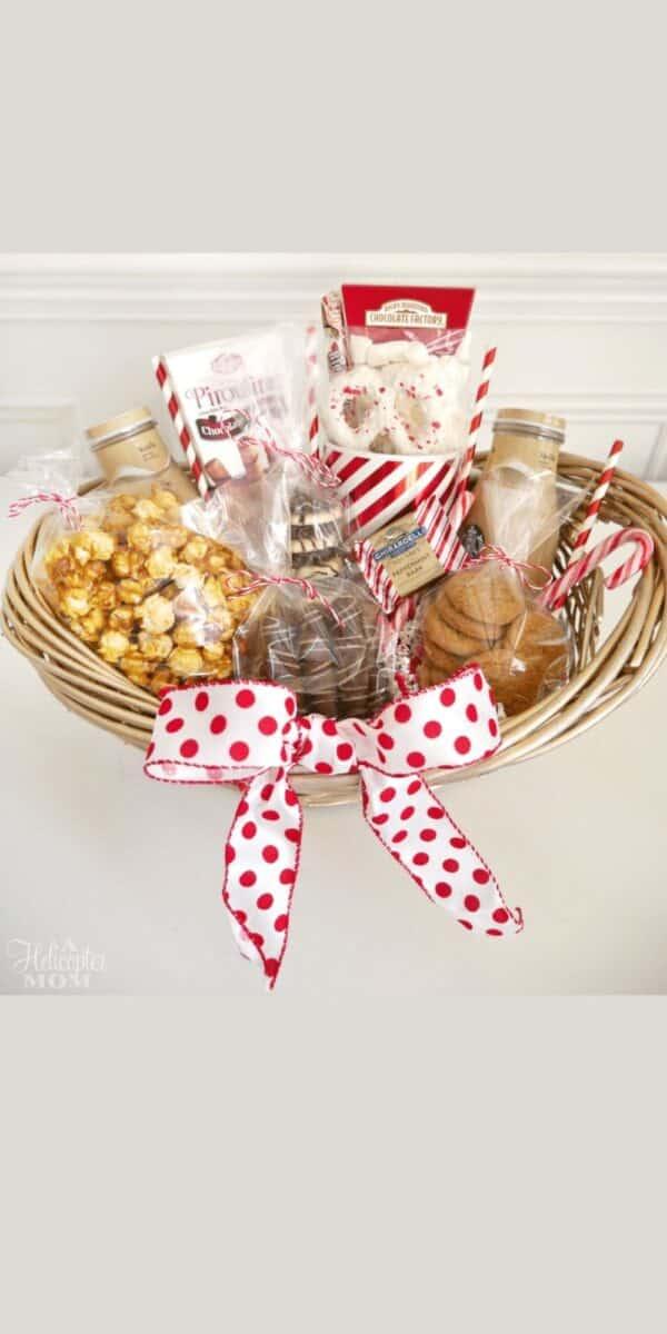 Christmas food gift basket