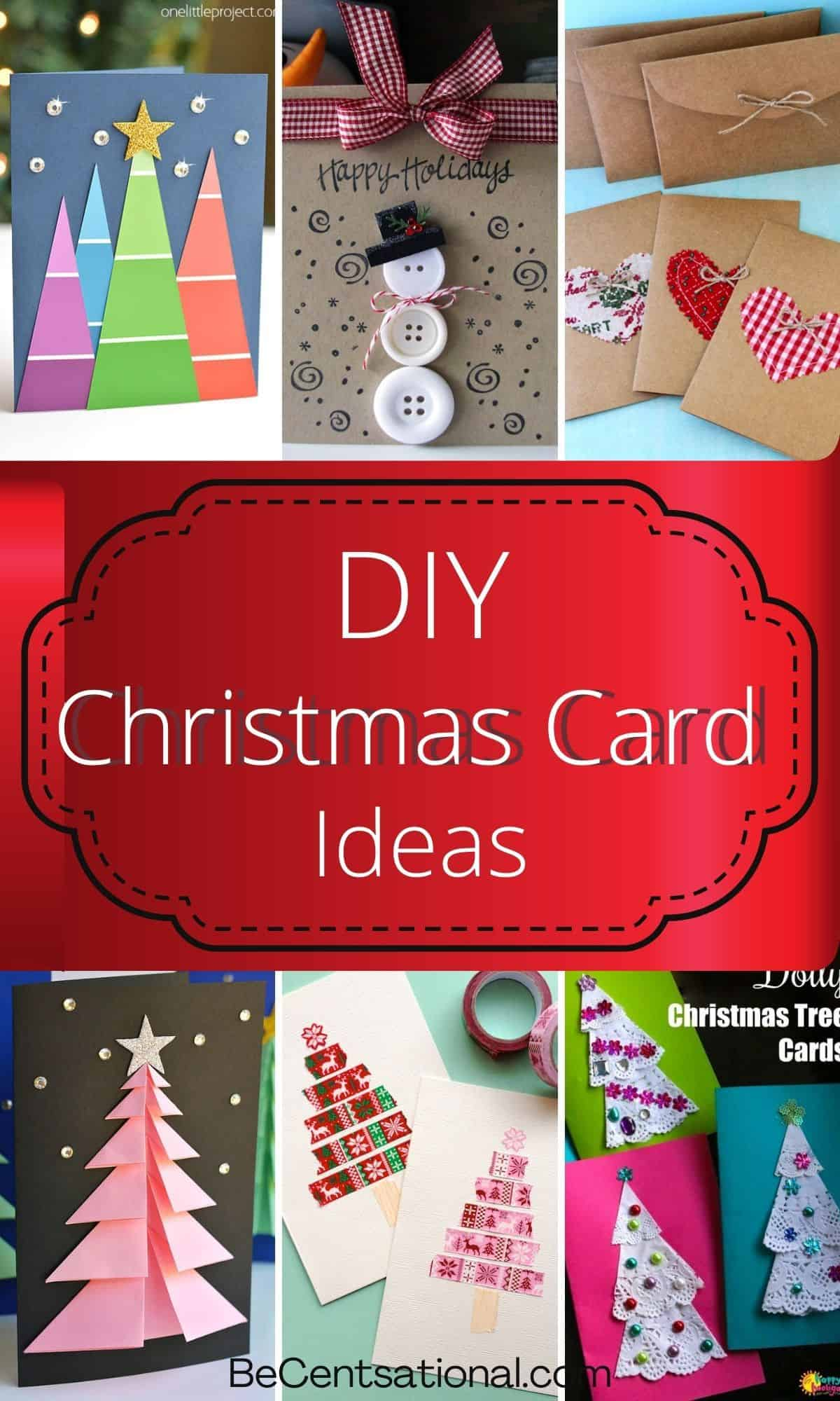 Collage of christmas card ideas