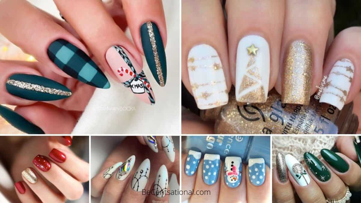 Christmas nails - Christmas nails art collages of nails