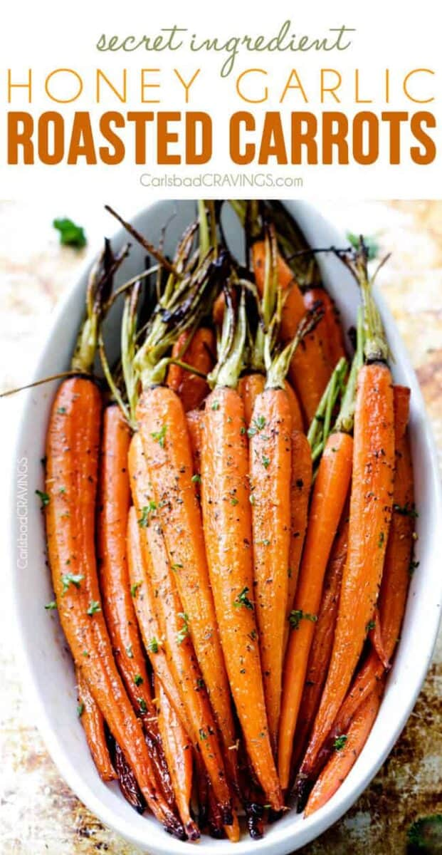 Christmas side dishes-roasted carrots