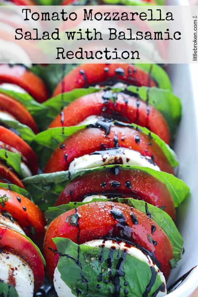 Christmas Side Dishes - tomatoes with basil and mozzarella salad