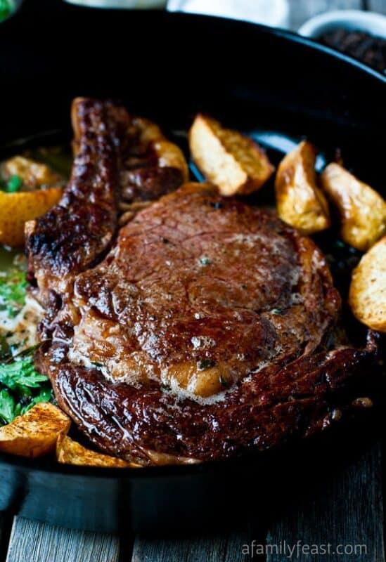 Christmas dinner-steak