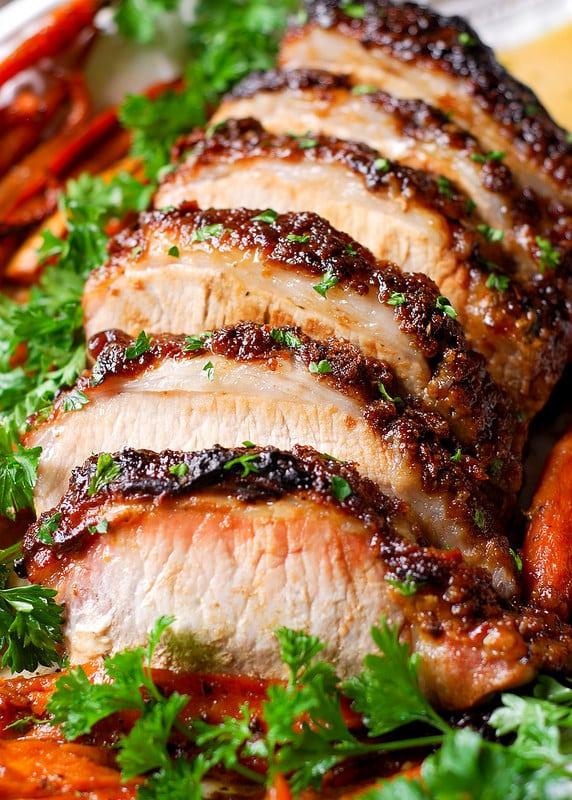 Christmas dinner-pork loin