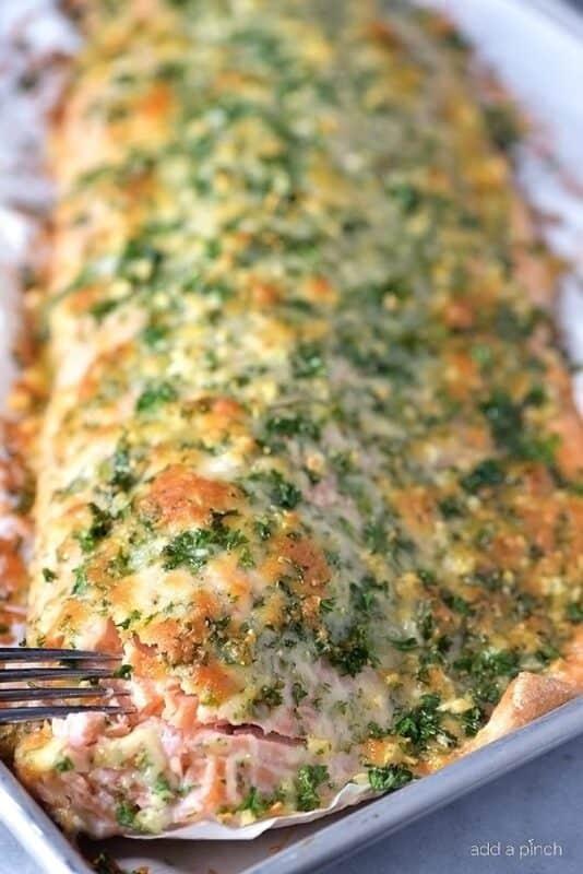 Christmas dinner-baked salmon