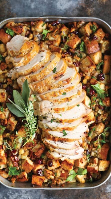 Christmas dinner-herb roasted turkey