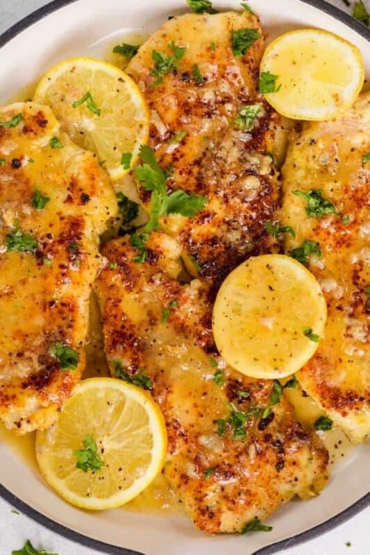 Christmas dinner-lemon chicken