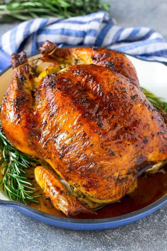 Christmas dinner-roasted chicken