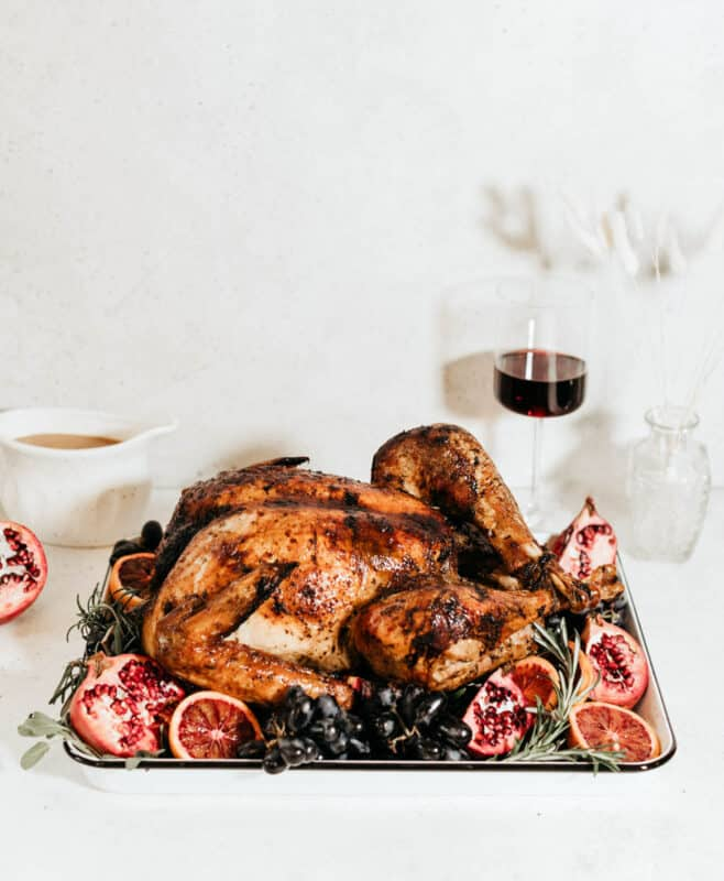 Christmas dinner-roast turkey