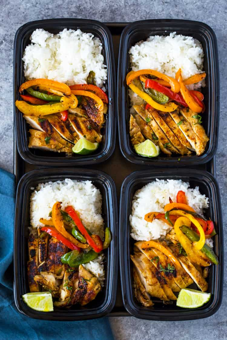 Chili Lime Chicken and Rice Meal Prep Bowls meal prep ideas