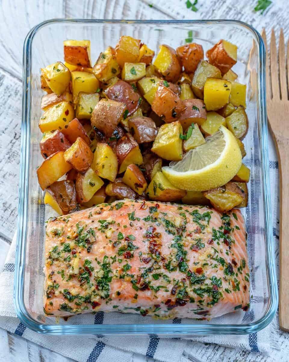 One-Sheet-Pan-Garlic-Butter-Salmon-