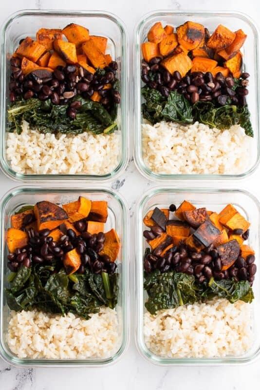 Nourish Vegan Bowl-Vegan Meal prep ideas