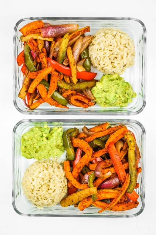 Sweet Potatoes Fajitas-Vegan Meal prep ideas