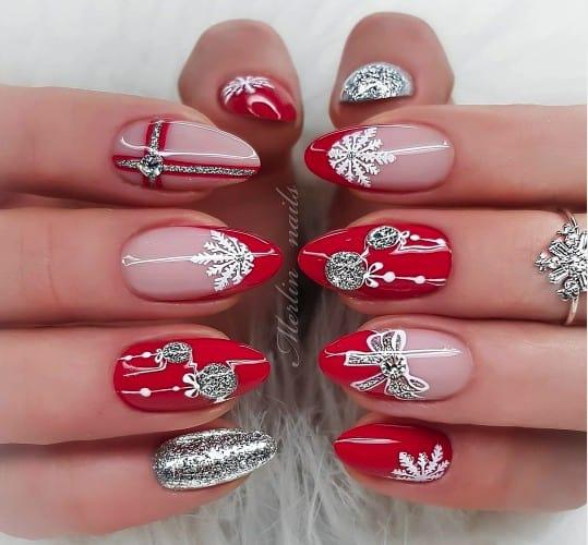 Christmas nails - Christmas diamond nails