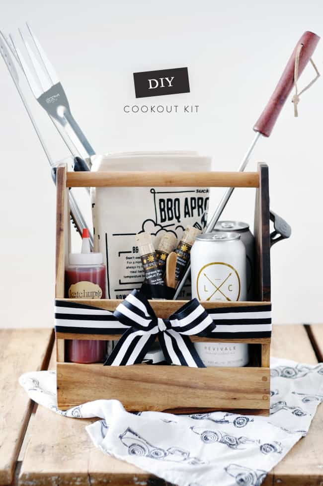 man gift basket with grill accessories