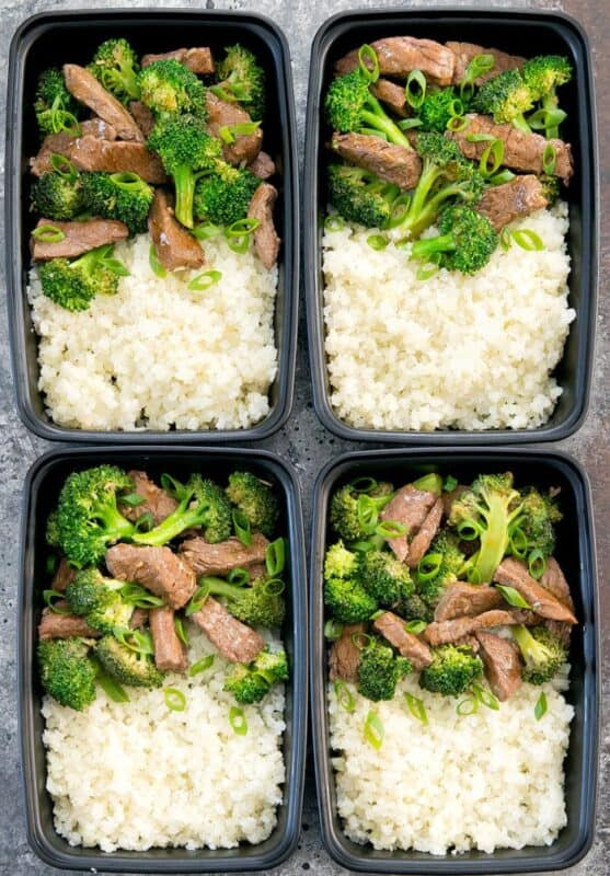 BEEF AND BROCCOLI MEAL PREP ideas
