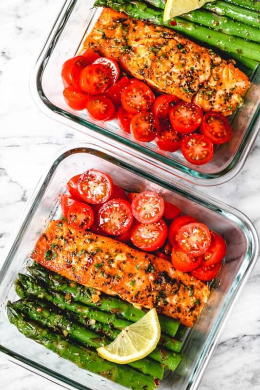 salmon and asparagus meal prep ideas