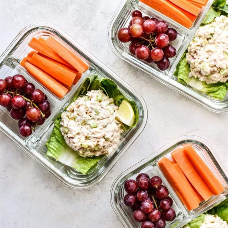 low carb tuna salad wraps-meal prep ideas
