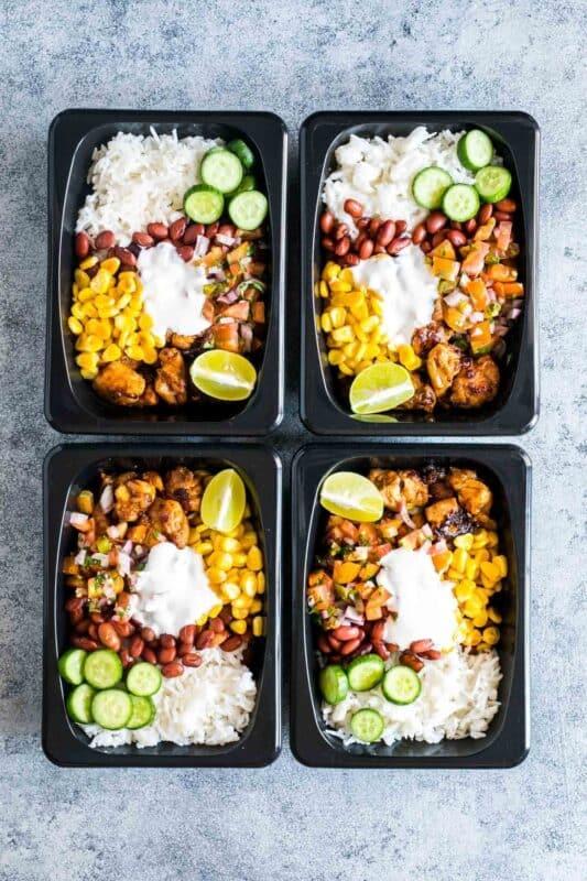 easy kitchen burrito meal prep ideas